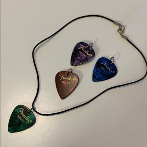 Jewelry - Guitar Pick Fender Rocker Necklace